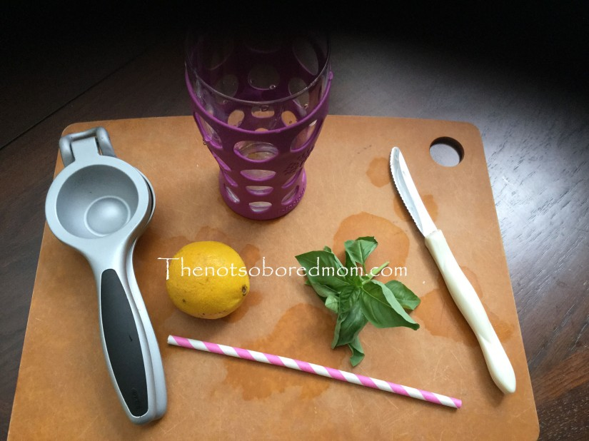 Basil lemonade ingredients